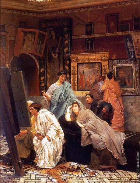 A collection of pictures at the time of Augustus (Alma-Tadema)