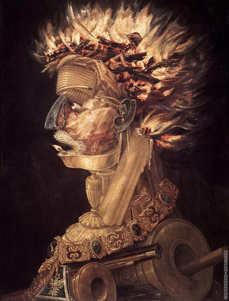 4 elements - Fire (Arcimboldo)