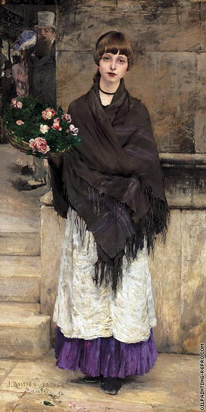Flower-Seller in London (Bastien-Lepage)