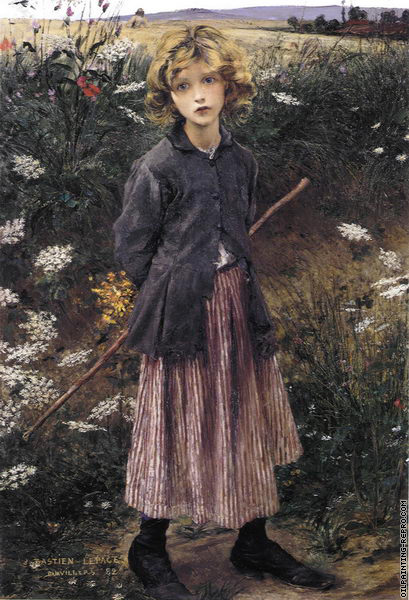 Roadside Flowers - The Little Shepherdess (Bastien-Lepage)