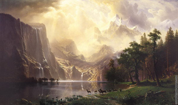 Among the Sierra - Nevada Mountains (Bierstadt)