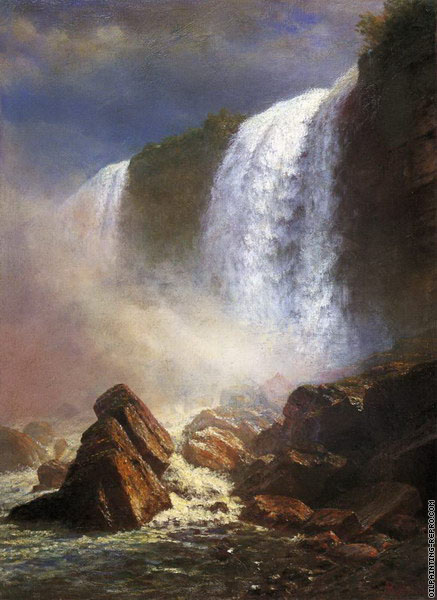 Falls of Niagara from Below (Bierstadt)