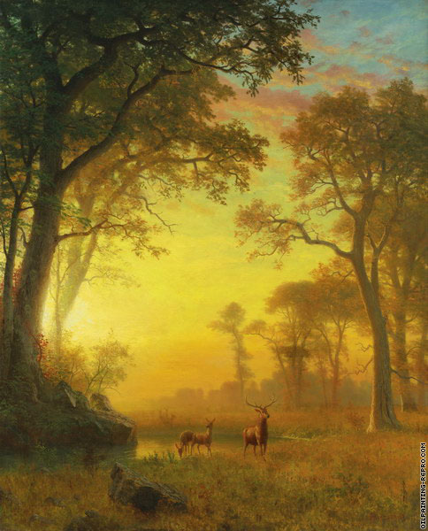Light in the Forest (Bierstadt)