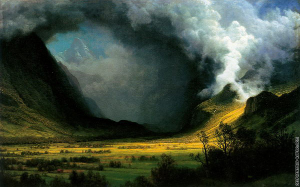 Storm in the Mountains (Bierstadt)
