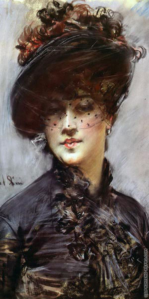 Woman with Black Hat (Boldini)