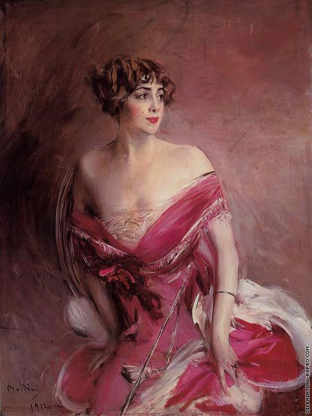 Portrait of Miss Gillespie - The Lady of Biarritz (Boldini)