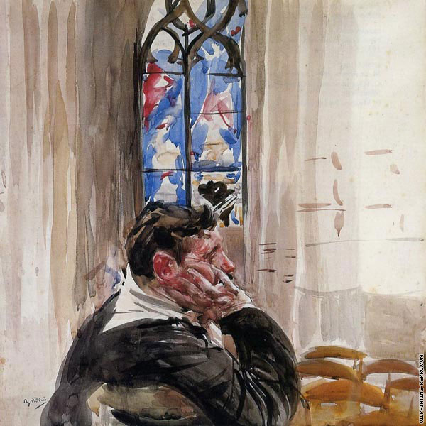 Portrait of a Man in Church (Boldini)