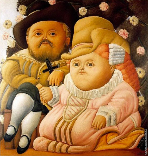 Rubens and his Wife (Botero)