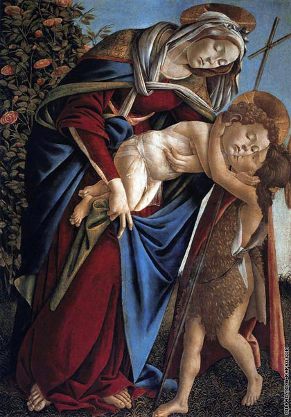 Madonna and Child and the young St-John the Baptist (Botticelli)