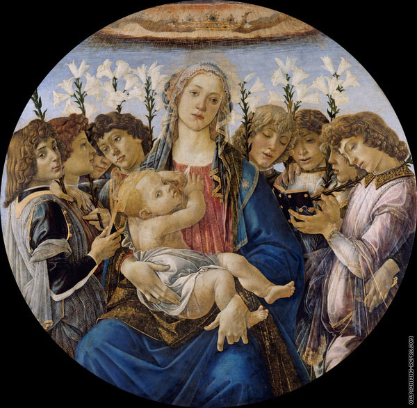 Madonna and Child with six Angels (Botticelli)