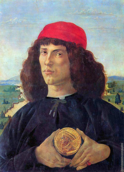 Florentin with a Medal of Cosimo the Elder (Botticelli)