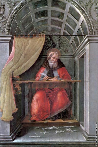 St-Augustine in his cell (Botticelli)