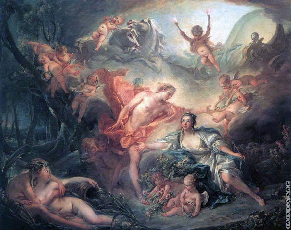 Apollo revealing his divinity to the Shepherdess (Boucher)