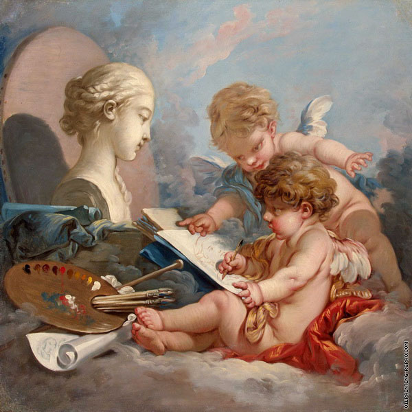 Cupids - Allegory of Painting (Boucher)