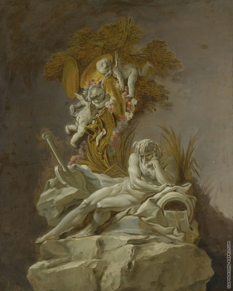 Studies of the River Gods - The Rhine (Boucher)