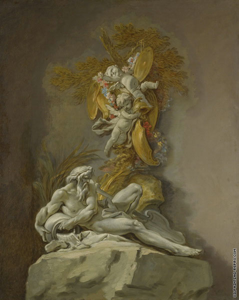 Studies of the River Gods - The Rhone (Boucher)