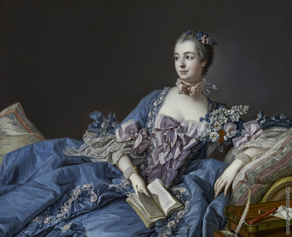 Madame de Pompadour in Blue Dress (Boucher)