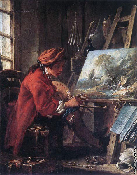 Painter in his Studio (Boucher)