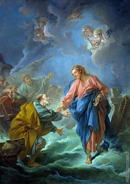St. Peter invited to walk on the water (Boucher)