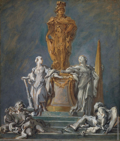 Study for a Monument to a Princely Figure (Boucher)