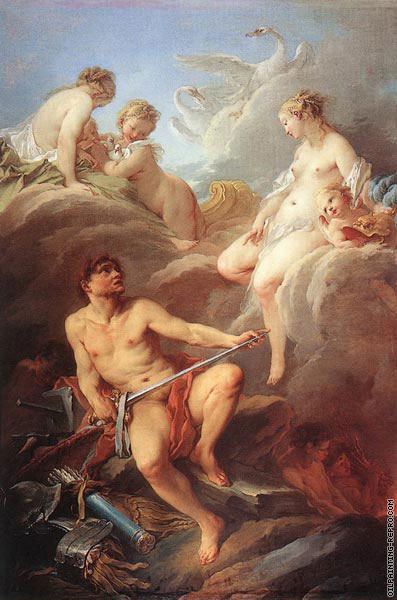 Venus demanding arms from Vulcan for Aeneas (Boucher)