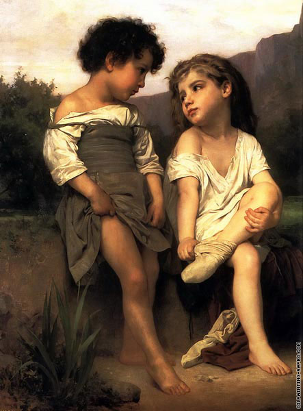 At the Edge of the Brook (Bouguereau)