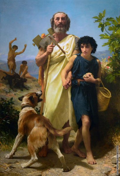 Homer and his Guide (Bouguereau)