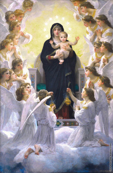 The Virgin with Angels (Bouguereau)