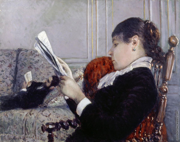 A Woman Reading (Caillebotte)