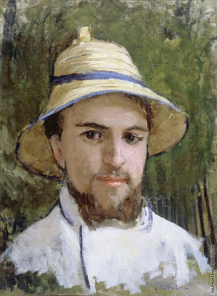 Self Portrait with a Summer Hat (Caillebotte)