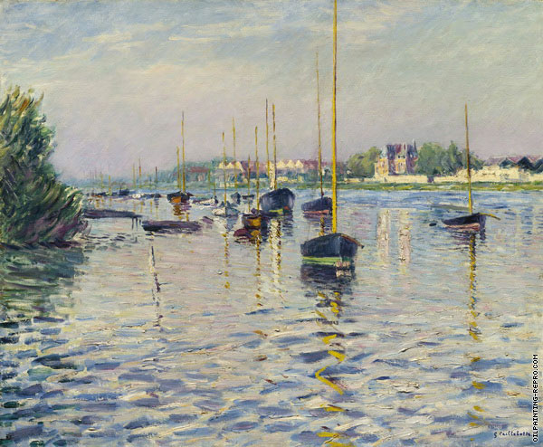 Boats at the Mooring on the Seine at Argenteuil (Caillebotte)