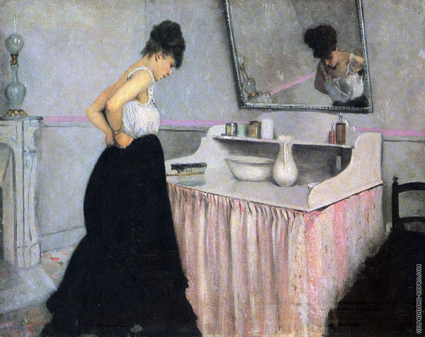 Woman at a Dressing Table (Caillebotte)
