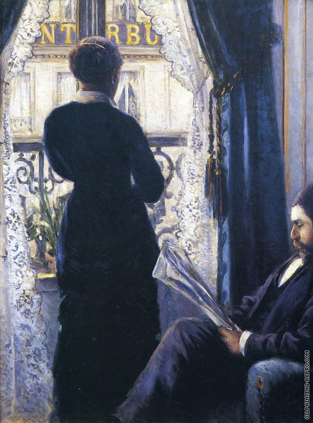 Interior Woman at the Window (Caillebotte)