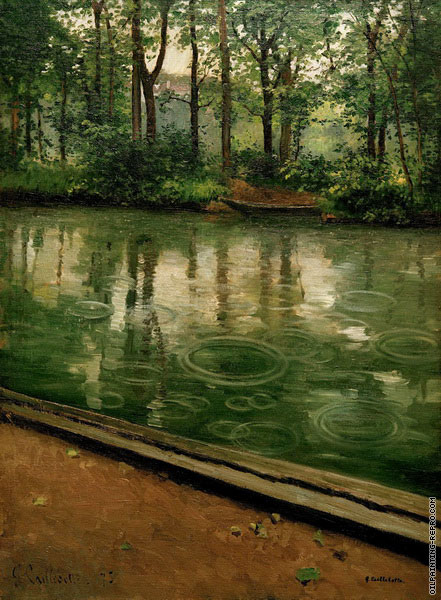 The Yerres - Rain (Caillebotte)