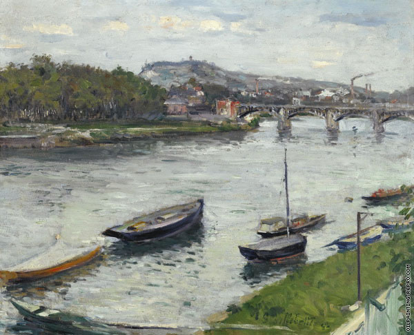 The Bank and the Bridge of Argenteuil (Caillebotte)