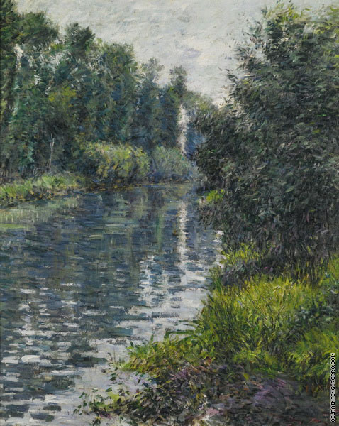 The Little Arm of the Seine - Argenteuil (Caillebotte)