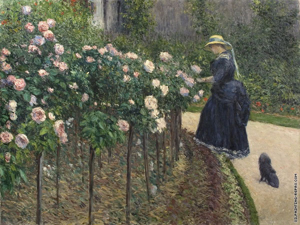 The Roses - Garden of Petit Gennevilliers (Caillebotte)