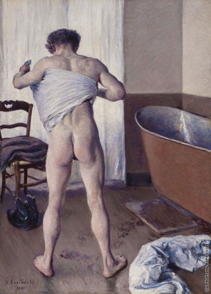 Man at his Bath (Caillebotte)