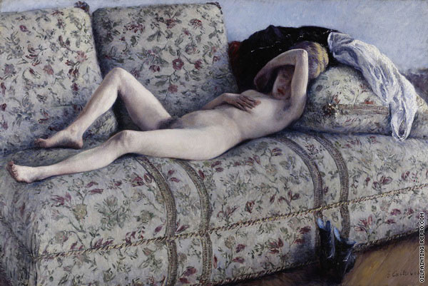 Nude on a Couch (Caillebotte)