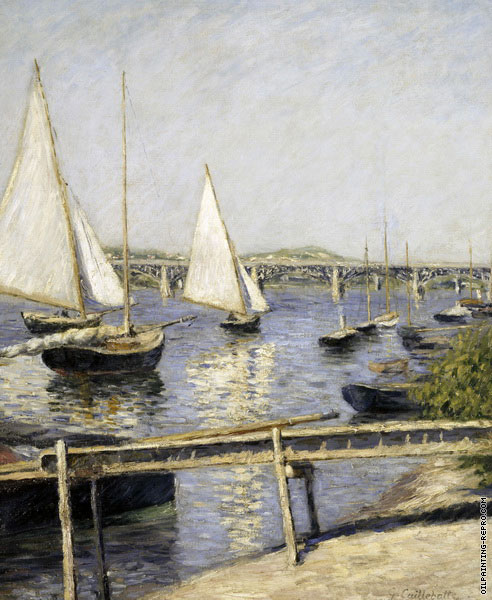 Sailing Boats at Argenteuil (Caillebotte)
