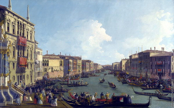 A Regatta on the Grand Canal 1 (Canaletto)