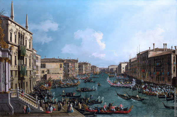 A Regatta on the Grand Canal 2 (Canaletto)