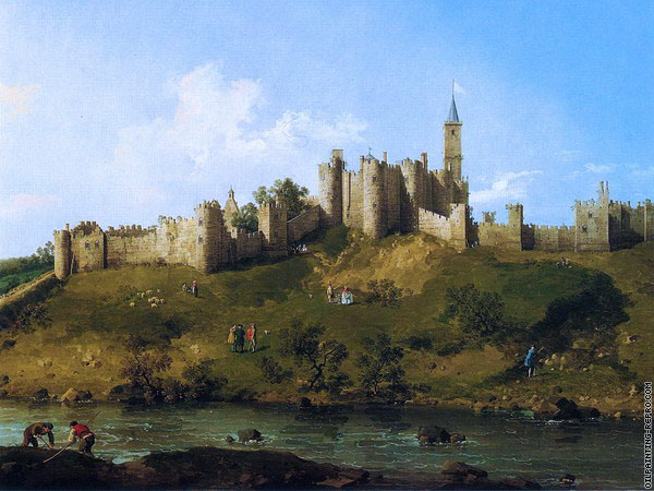 Alnwick Castle at Northumberland (Canaletto)