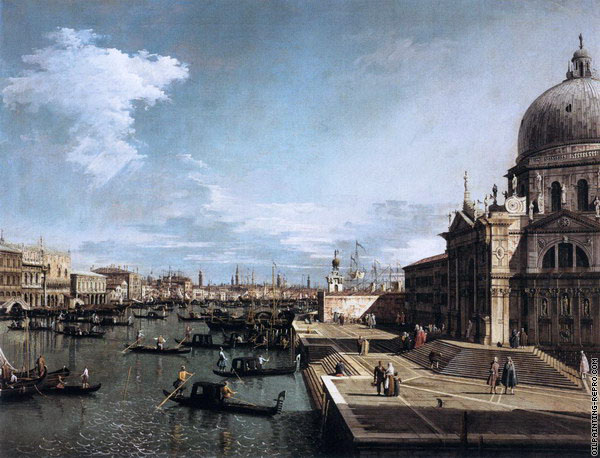 The Grand Canal from the Church of Santa Maria della Salute 1 (Canaletto)