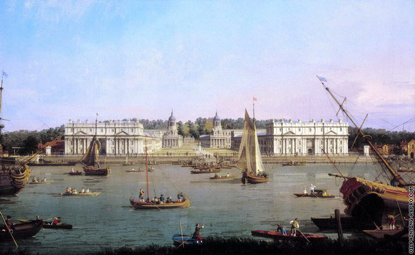Greenwich Hospital from the North Bank of the Thames (Canaletto)