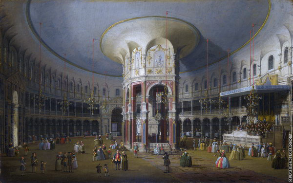 Interior of the Rotunda at Ranelagh - London (Canaletto)