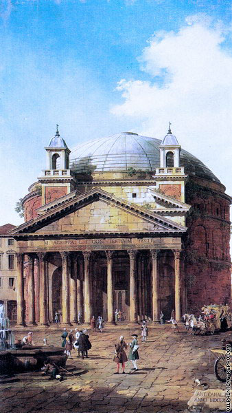 Rome - The Pantheon (Canaletto)