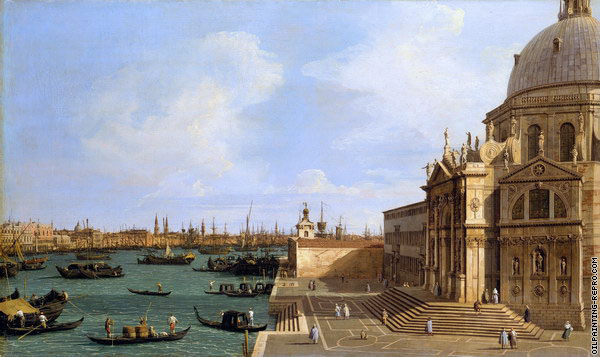 The Grand Canal from the Church of Santa Maria della Salute 2 (Canaletto)
