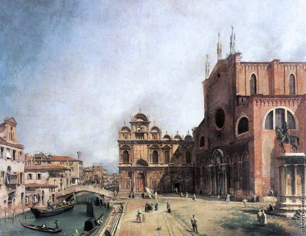 Basilica of St. John and Paul & Highschool of St. Marco (Canaletto)