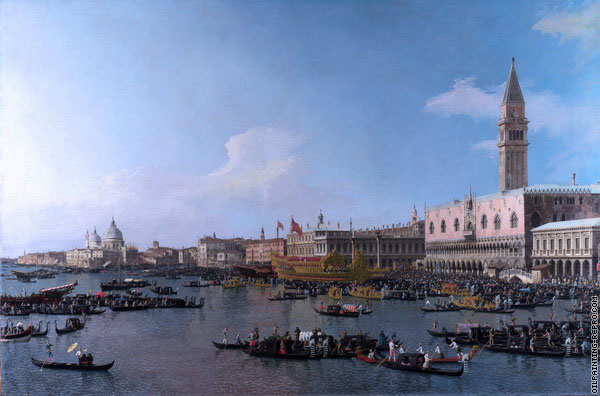The Basin of Saint Marco on Ascension Day - Venice (Canaletto)